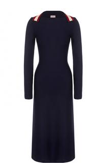 Приталенное платье-миди с длинным рукавом MRZ