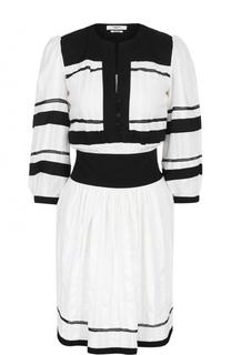Приталенное мини-платье с укороченным рукавом Isabel Marant Etoile