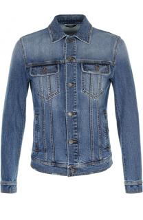 Джинсовая куртка с контрастной прострочкой Dolce & Gabbana