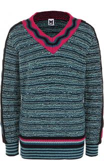 Пуловер фактурной вязки с V-образным вырезом M Missoni