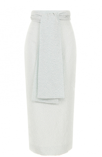 Вязаная юбка-миди с широким поясом и бантом Walk of Shame