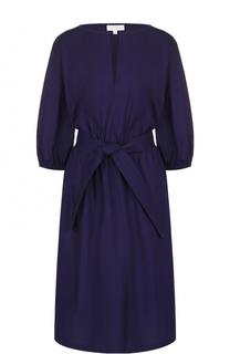 Хлопковое платье с укороченным рукавом и поясом Escada Sport