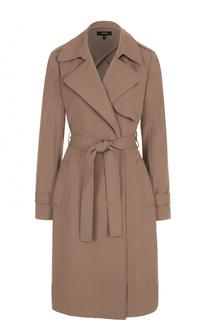 Пальто с широкими лацканами и поясом Theory