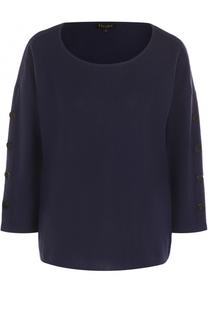 Пуловер с круглым вырезом и укороченным рукавом Escada
