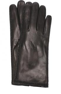Кожаные перчатки с меховой подкладкой Sermoneta Gloves