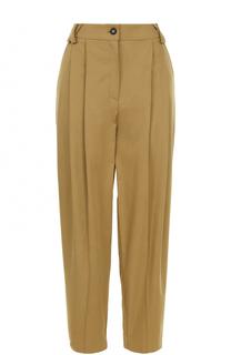 Хлопковые брюки-бананы с защипами Walk of Shame