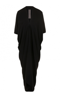 Платье свободного кроя с V-образным вырезом Rick Owens