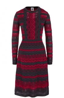 Вязаное платье-миди с длинным рукавом M Missoni