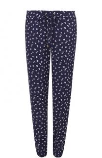 Укороченные брюки с эластичным поясом и цветочным принтом MICHAEL Michael Kors