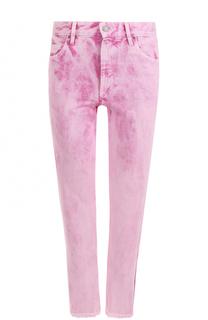 Укороченные джинсы прямого кроя с потертостями Isabel Marant Etoile