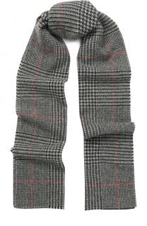 Кашемировый шарф с узором houndstooth Johnstons Of Elgin