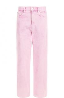 Широкие джинсы с завышенной талией и потертостями Isabel Marant Etoile