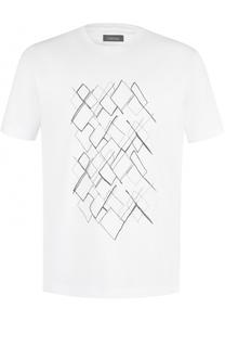 Хлопковая футболка с принтом Z Zegna