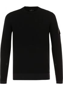 Однотонный шерстяной свитер Stone Island