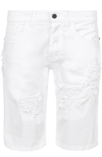 джинсовые шорты с декоративными потертостями Dirk Bikkembergs