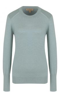 Шерстяной пуловер прямого кроя Burberry