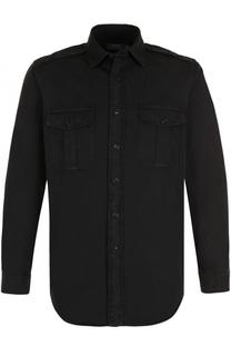 Хлопковая рубашка с накладными карманами Polo Ralph Lauren