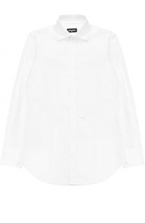 Хлопковая рубашка прямого кроя Dsquared2