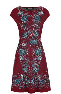 Приталенное мини-платье с контрастным принтом Roberto Cavalli