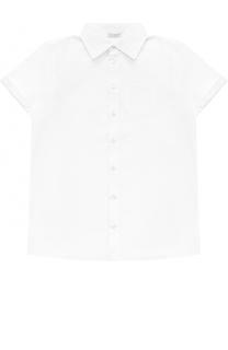 Хлопковая рубашка прямого кроя с короткими рукавами Dolce & Gabbana