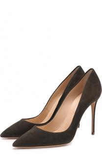 Замшевые туфли на шпильке Casadei