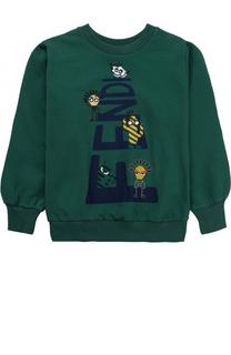 Хлопковый свитшот с принтом Fendi Roma