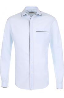 Хлопковая сорочка с контрастной отделкой Valentino