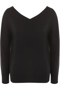 Кашемировый пуловер с V-образным вырезом Helmut Lang