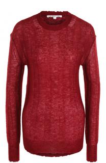 Полупрозрачный пуловер с круглым вырезом Helmut Lang