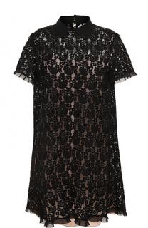 Кружевное мини-платье прямого кроя REDVALENTINO