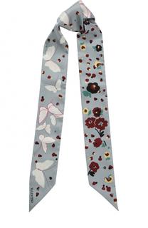 Шелковый шарф-бандо с принтом Valentino