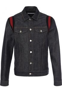 Джинсовая куртка с контрастной отделкой Givenchy