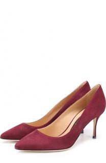 Замшевые туфли на шпильке Sergio Rossi
