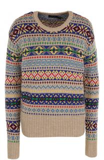Вязаный пуловер прямого кроя с круглым вырезом Polo Ralph Lauren
