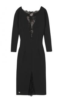 Платье-футляр с кружевными вставками Philipp Plein