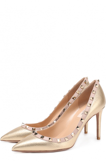 Туфли Rockstud из металлизированной кожи на шпильке Valentino