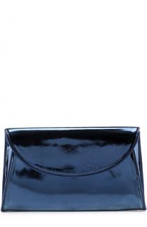 Клатч из металлизированной кожи Diane Von Furstenberg