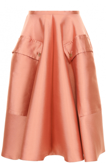 Пышная юбка-миди с накладными карманами Rochas