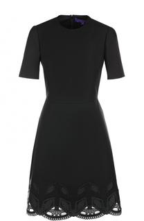 Приталенное платье с декорированным подолом Ralph Lauren