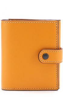 Кожаный кошелек на кнопке Coach
