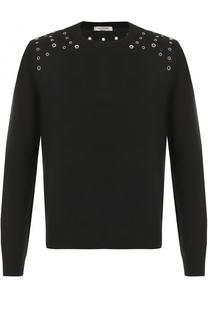 Джемпер из смеси шерсти и кашемира с декоративной отделкой Valentino