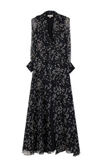 Шелковое платье-макси с цветочным принтом Paul&Joe Paul&Joe