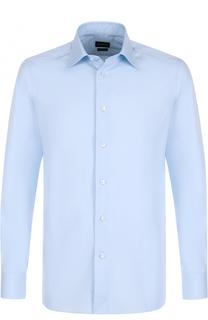 Хлопковая сорочка с воротником кент Ermenegildo Zegna