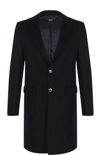 Однобортное пальто из смеси шерсти и кашемира Billionaire