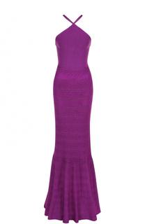 Шелковое платье-макси с открытой спиной Ralph Lauren