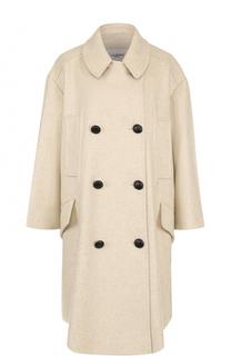 Двубортное пальто свободного кроя с отложным воротником Isabel Marant Etoile