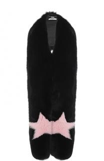 Удлиненный меховой жилет из меха лисы Givenchy