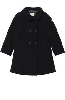 Двубортное пальто с декоративной отделкой Giorgio Armani