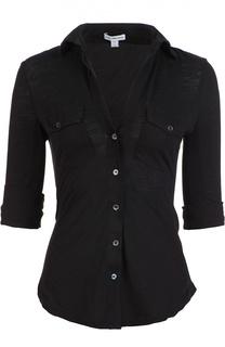Приталенная блуза с укороченным рукавом James Perse