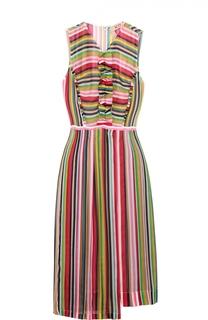 Платье без рукавов в контрастную полоску No. 21